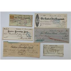 H. Don Allen Collection - Lot of Five Better Cheques
