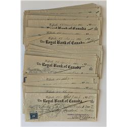 H. Don Allen Collection - Royal Bank of Canada Cheques