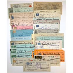 H. Don Allen Collection - Cheques, Canadian Bank of Commerce Group