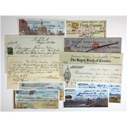 H. Don Allen Collection - Very Scarce Cheques on Southern Branches, plus other interest