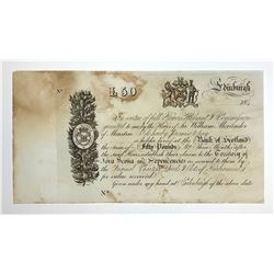 H. Don Allen Collection - Edinburgh, 184_, Promissory Note for £50