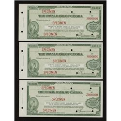 H. Don Allen Collection - Specimen Travellers Cheques
