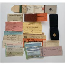 H. Don Allen Collection - Unused cheques in books or loose.