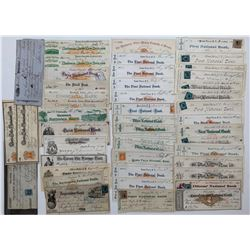 H. Don Allen Collection - United States Cheques, 1860s - 1870s