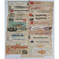 H. Don Allen Collection - United States Cheques, 1880s - 1890s