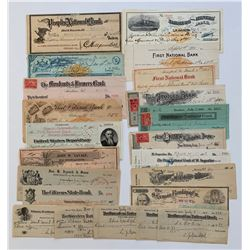 H. Don Allen Collection - United States Cheques, 1900 - 1928