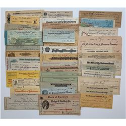 H. Don Allen Collection - Later United States Cheques, 1887 - 1982.