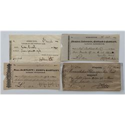 H. Don Allen Collection - Four Early Private Bank Cheques, England and Australia.