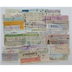 H. Don Allen Collection - Cheques from United Kingdom, Hong Kong, Australia and various