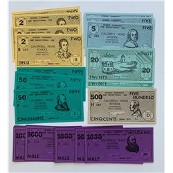 H. Don Allen Collection - School Currency for Educational Use, Caldwell Road School, Da