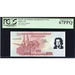 Duranote 100 - Beethoven Test Note