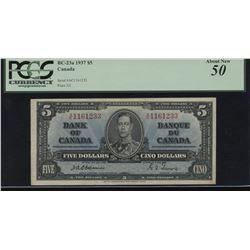 Bank of Canada $5, 1937 - Scarce Osborne Signature