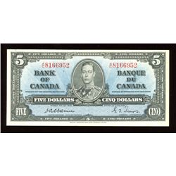 Bank of Canada $5, 1937 - Scarce Osborne Signature
