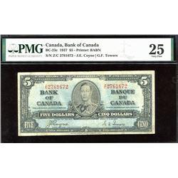 Bank of Canada $5, 1937 - Radar