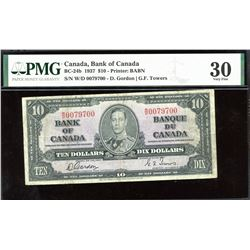 Bank of Canada $10, 1937 - 3 Digit Radar