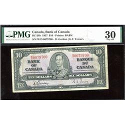 Bank of Canada $10, 1937 - 3 Digit Radar