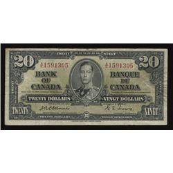 Bank of Canada $20, 1937 - Osborne Signature