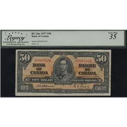 Bank of Canada $50, 1937 - Osborne Signature