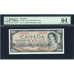 Bank of Canada $100, 1954 Devil's Face