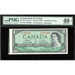 Bank of Canada $1, 1954 Out of Registry Printing Error