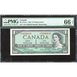 Bank of Canada $1, 1954 Replacement Note