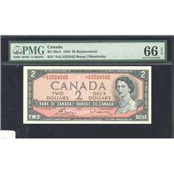 Bank of Canada $2, 1954 - Replacement Note