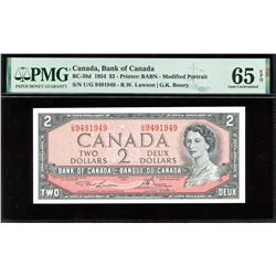 Bank of Canada $2, 1954 - Radar
