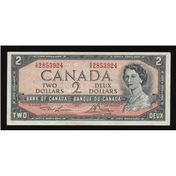 Bank of Canada $2, 1954 - Test Note
