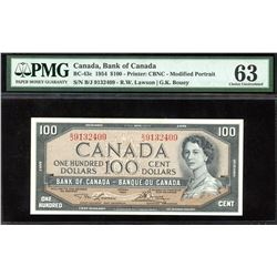 Bank of Canada $100, 1954