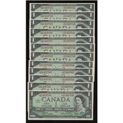 Bank of Canada 1964 $1 *B/M Replacement Consecutive Run (12)