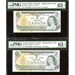 Bank of Canada $1, 1973 - Lot of 2 Replacement Notes