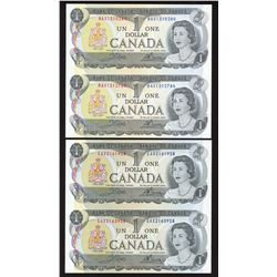 Bank of Canada $1, 1973 - Uncut Pair of Replacement Notes