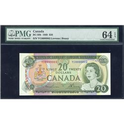 Bank of Canada $20, 1969 - Low Serial Number