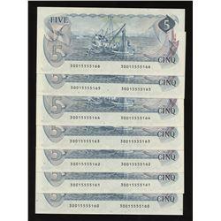 Bank of Canada 1979 $5 Consecutive Run (7)