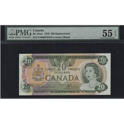 Bank of Canada $20, 1979 - Replacement Note