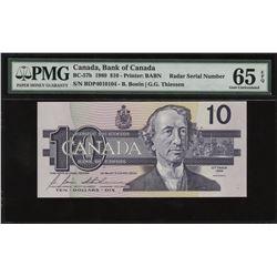 Bank of Canada $10, 1989 - Radar
