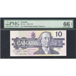 Bank of Canada $10, 1989 Circulation Issue