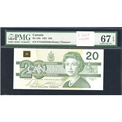 Bank of Canada $20, 1991 Radar with BPN