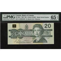 Bank of Canada $20, 1991 - 2 Digit Radar
