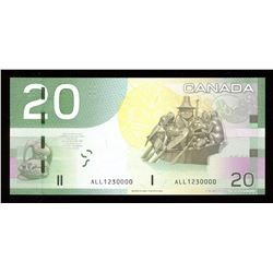 Bank of Canada $20, 2004 - SN Replacement, Fancy Serial Number