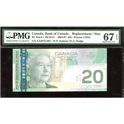 Bank of Canada $20, 2004-07 Replacement Note