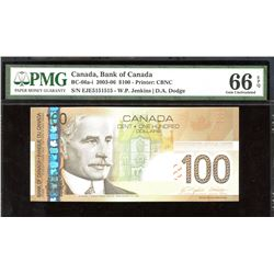 Bank of Canada $100, 2003-06 - 2 Digit Radar