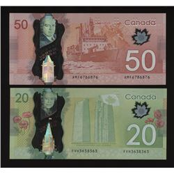 Bank of Canada $20 & $50 Lot - Radar