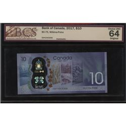 Bank of Canada $10, 2017