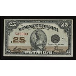 Dominion of Canada Twenty-Five Cents, 1923