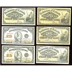 Dominion of Canada Twenty-Five Cents - Lot of 12