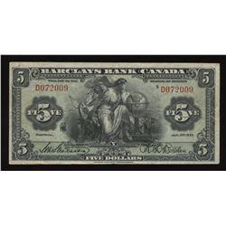 Barclays Bank $5, 1935