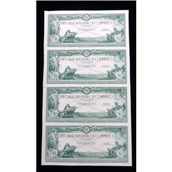 The Canadian Bank of Commerce, $10, 1917. Uncut sheet of four Face Proof