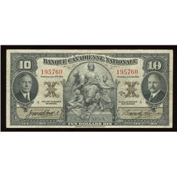 Banque Canadienne Nationale $10, 1935