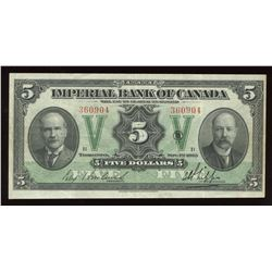 Imperial Bank of Canada $5, 1923